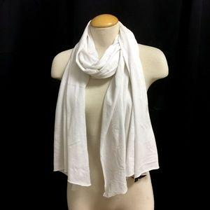 RALPH LAUREN White Cotton Scarf/)S